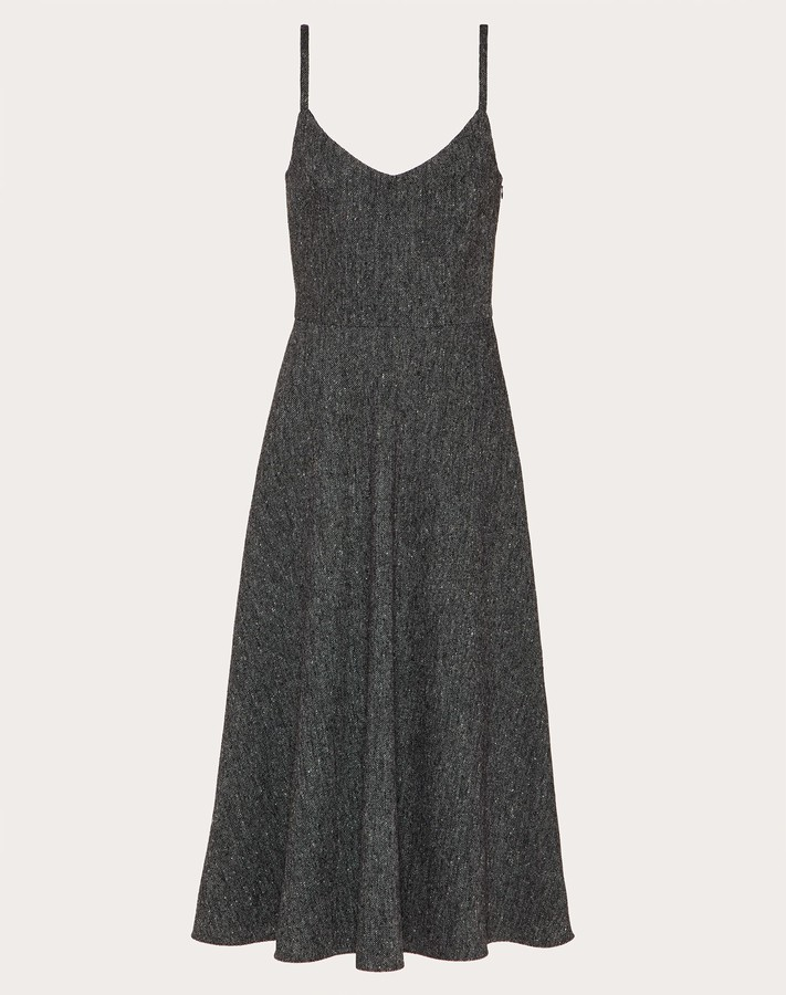 Valentino Light Tweed Dress Women Dark Grey Wool 40%, Virgin Wool 30%, Other Fibres 2% 40