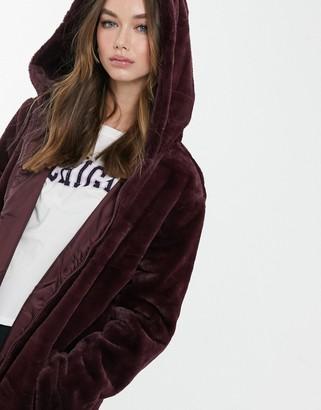 Brave Soul bernie faux fur hooded coat
