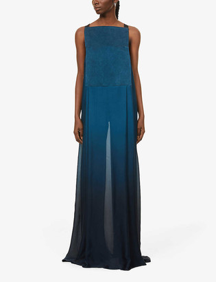 Omer Asim Haraza silk-crepe maxi dress