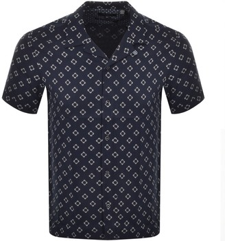 Ted Baker Hedstan Short Sleeved Shirt Navy