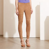 Ralph Lauren Stretch Suede Skinny Pant