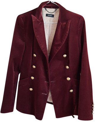 Max & Co. Burgundy Velvet Jackets