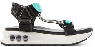 Nicholas Kirkwood Nkp3 Faux Pearl-inlay Leather Flatform Sandals - Green