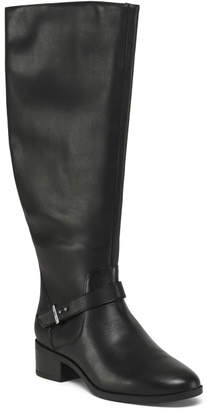Wide Calf Leather Riding Boots