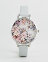 Olivia Burton Vegan Leather Watch with Floral Face