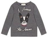 Gucci Boy's 'L'Aveugle Par Amour' Puppy Applique Sweatshirt