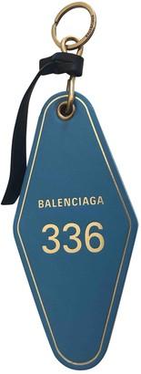 Balenciaga Blue Leather Bag charms