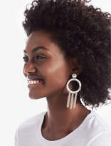 Lucky Brand Silver O Tassel Earring