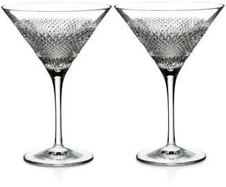 Waterford Diamond Line Martini Glasses, Set of 2