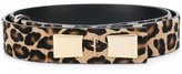 Salvatore Ferragamo leopard pattern logo buckle belt