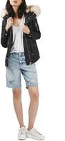 Topshop Trevor Parka with Faux Fur Trim Hood (Regular & Petite)