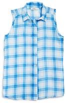 Pinc Premium Girls' Plaid Sleeveless Button Down Shirt - Sizes S-XL