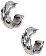 Simon Sebbag 19mm Sterling Silver Small Braided Hoop Earrings