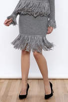 Endless Rose Fringe Sweater skirt