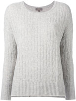 N.Peal oversize box cable jumper - women - Cashmere - S