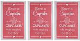 Cupcake Dish Towels (Set of 3)