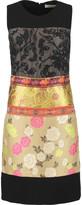 Etro Embroidered silk-paneled jacquard dress