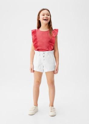 MANGO Medium-waist denim shorts