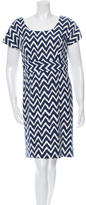 Milly Patterned Sheath Dress