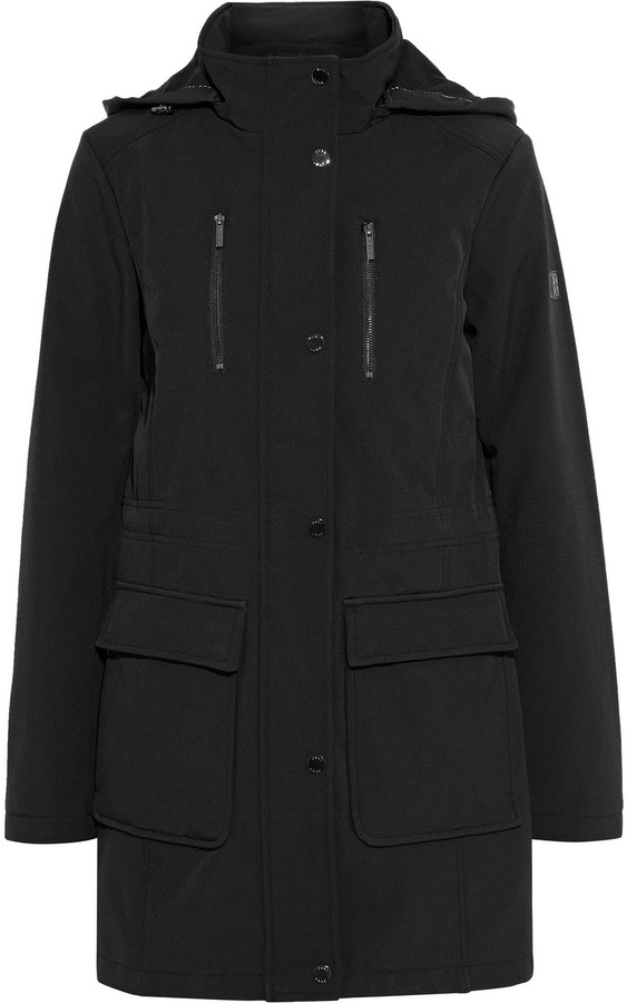 DKNY Shell Hooded Coat