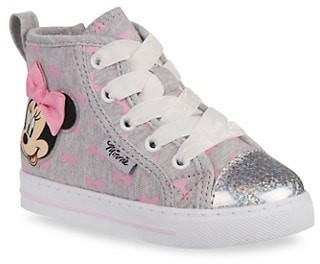 Josmo Little Girl's Girl's Disney Minnie Mouse High-Top Sneakers