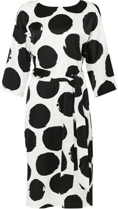 Wallis Cream Abstract Polka Dot Shift Dress
