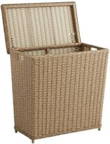 Pier 1 Imports Echo Beach Light Brown Wicker Divided Laundry Hamper