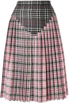 Marco De Vincenzo check pleated skirt