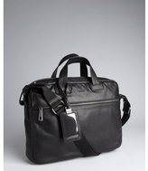 HUGO BOSS Boss black leather convertible laptop briefcase