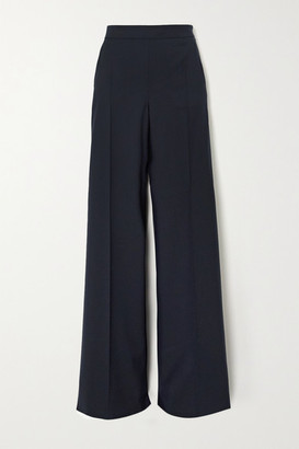 Max Mara Wool-twill Wide-leg Pants - Navy