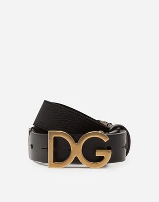Dolce & Gabbana Stretch Tape Belt With Buckle