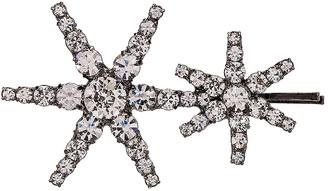 Jennifer Behr Double Star Bobby Pin in Crystal Gunmetal | FWRD