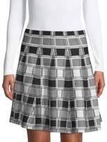 Saks Fifth Avenue BLACK Plaid Mini Skirt
