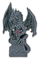 Summit Dragon Holding the Cross Collectible Figurine Statue Sculpture Figure