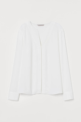 H&M Creped Blouse - White