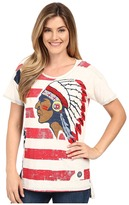 Double D Ranchwear To See Ol' Glory Fly Top