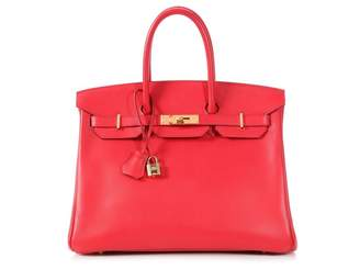 Hermes Birkin 35 Pink Leather Handbags