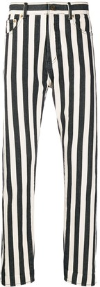 Saint Laurent Striped Straight Jeans