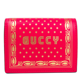 Gucci Red Leather GUCCY Wallet