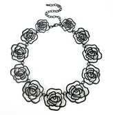 Sole Society Rosette Statement Necklace