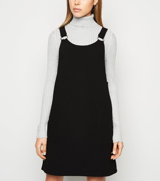 New Look Crepe Ring Strap Pinafore Dress