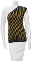 M Missoni Patterned One-Shoulder Top w/ Tags