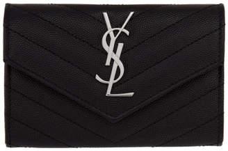 Saint Laurent Black Small Monogramme Envelope Wallet