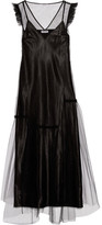 Opening Ceremony Ruffle-trimmed Tulle Maxi Dress - Black