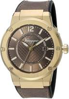 Salvatore Ferragamo Men's 'F-80' Swiss Quartz Stainless Steel and Leather Casual Watch, Color: (Model: FIF060016)