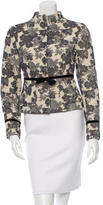 Magaschoni Patterned Mock Neck Jacket