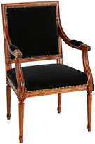 Rejuvenation Louis XVI Black Velvet Armchair