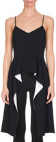 Givenchy Bicolor Cady Peplum Tank, Black/White