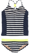 J.Crew Girls' tankini set in stripe