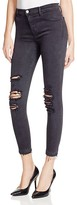 J Brand Alana High Rise Skinny Jeans in Demented Black